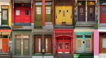 Image of a selection of front doors