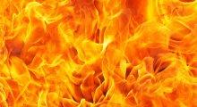 Image of burning flames