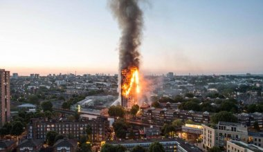 A photo of the Grenfell building fire