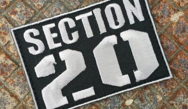 Image of a badge with text which reads Section 20