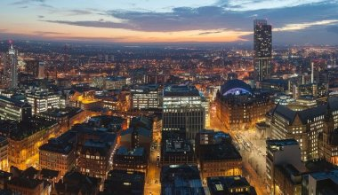 Image of an aerial view of Manchester