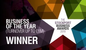 The Stockport Business Awards 2019, Business of the Year Winner logo
