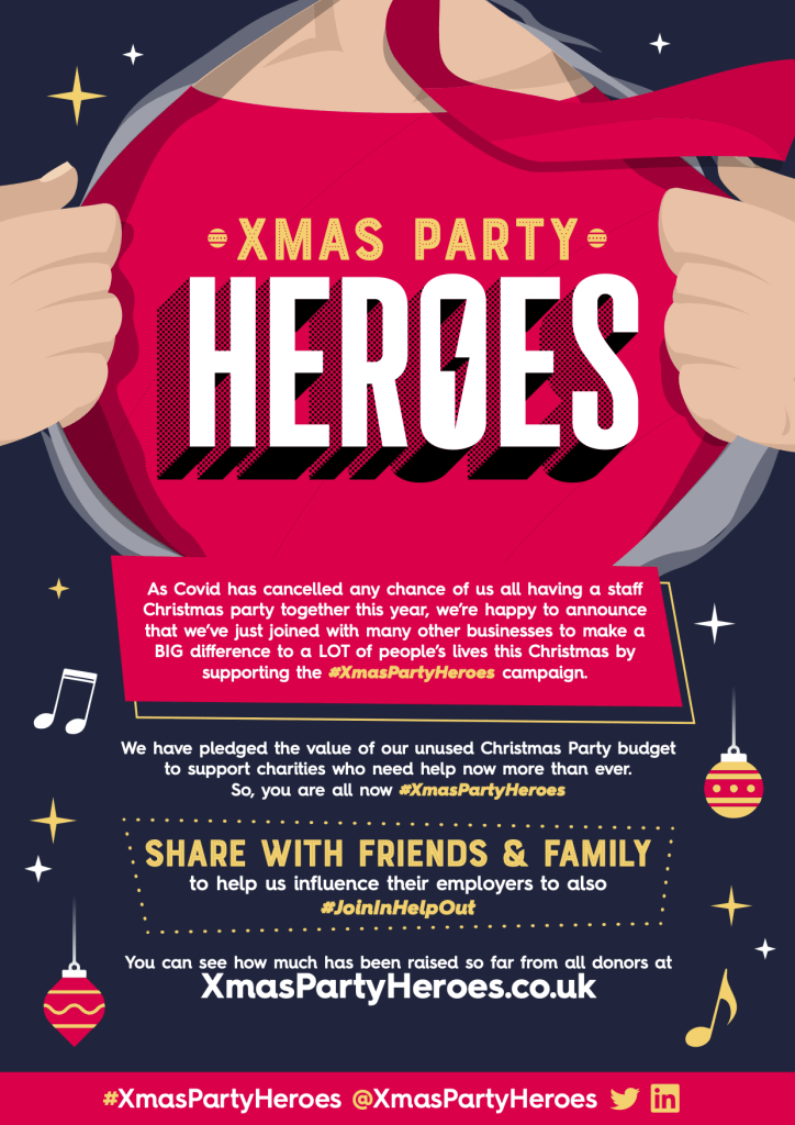 Xmas Party Heroes Campaign poster